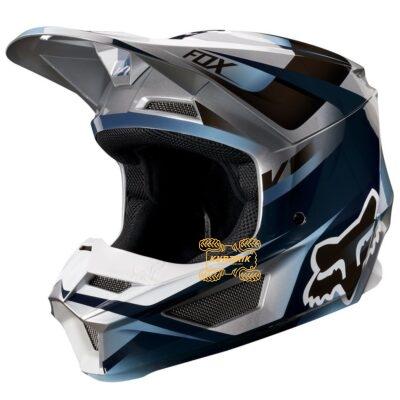 Шлем FOX V1 MOTIF HELMET [BLU/GRY] размер L 21775-024-L