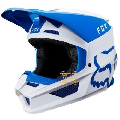 Шлем FOX V1 MATA HELMET [BLU/WHT]