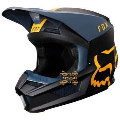 Шлем FOX V1 MATA HELMET [NVY/YLW] размер XL 21862-046-XL