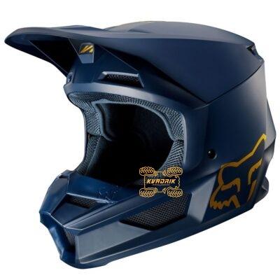 Шлем FOX V1 SE HELMET [NVY/GLD]