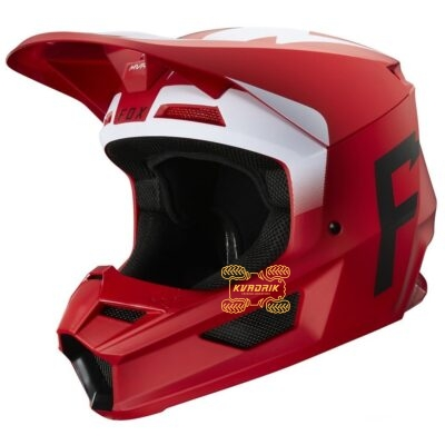 Шлем FOX V1 WERD HELMET [Flame Red]
