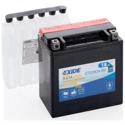 Аккумулятор EXIDE ETX20CH-BS 12V 18AH для квадроцикла Suzuki KingQuad 700 750 150X90X160