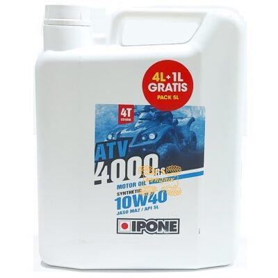 Моторное масло для квадроцикла IPONE ATV 4000 10W40 4T 5л 800478