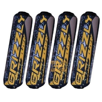 Чехлы амортизаторов для квадроциклов Yamaha Grizzly 700 цвет черно-желтый  OS-YA-G700