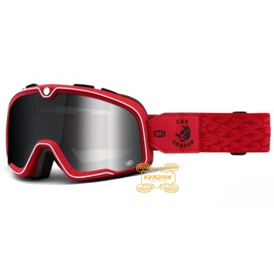 Очки 100% BARSTOW Steve Caballero цвет красный, линза тонированная с анти-фогом 50002-380-02