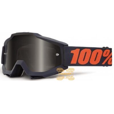 Очки 100% Accuri SAND Gunmetal цвет черный, линза тонированная с анти-фогом 50201-025-02