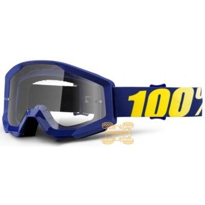 Очки 100% STRATA Hope цвет синий, линза прозрачная с анти-фогом 50400-238-02