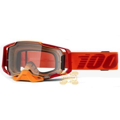 Очки 100% ARMEGA Litkit цвет красный, линза прозрачная с анти-фогом 50700-354-02