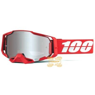 Очки 100% ARMEGA Red HiPER цвет красный, линза тонированная с анти-фогом 50720-003-02