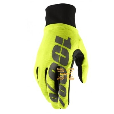Зимние перчатки RIDE 100% BRISKER Hydromatic Waterproof Glove [Neon Yellow]