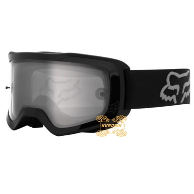Очки FOX MAIN II X STRAY GOGGLE [BLACK] цвет черный, линза прозрачная с анти-фогом 26471-001-OS