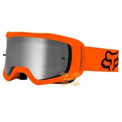 Очки FOX MAIN II X STRAY GOGGLE [FLO ORANGE] цвет оранжевый, линза прозрачная с анти-фогом 26471-824-OS