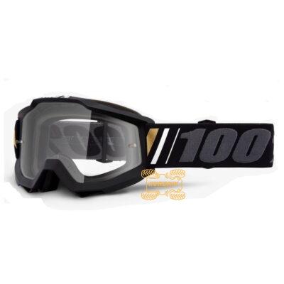 Очки 100% Accuri Goggle Off - Clear Lens цвет черный, линза прозрачная с анти-фогом 50200-347-02