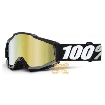Очки 100% Accuri ENDURO Goggle Tornado - Mirror Gold Lens цвет черный, линза тонированная с анти-фогом 50210-059-02