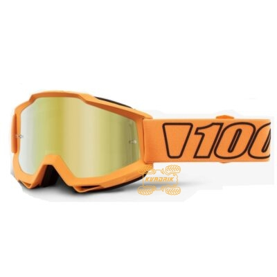Очки 100% Accuri Goggle Luminari - Mirror Gold Lens цвет оранжевый, с анти-фогом 50210-349-02