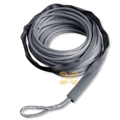 Оригинальный синтетический трос Warn серый 6мм 15м для лебедок Warn VRX 45 55, Axon 45 55 4505-0729, 100975