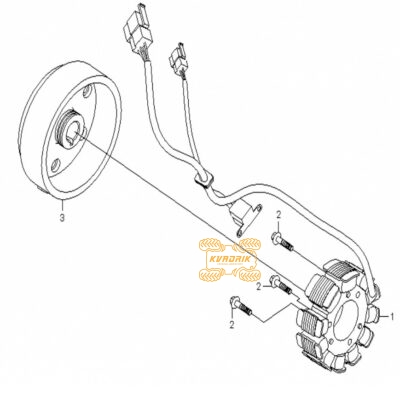 Оригинальный статор для квадроциклов CFMoto 500, X5, X6 0180-032000-1000, CF188-032000-1000