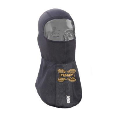 Подшлемник из полиэстера с ветрозащитным воротником OJ PRO-HEAD. Универсальный размер, черный цвет 2503-0328 F019