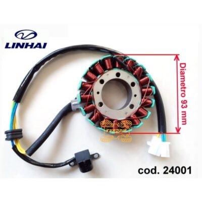 Оригинальный статор для квадроцикла Linhai 300 24001