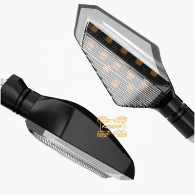 Комплект универсальных светодиодных поворотников с дневными ходовыми огнями (ДХО)  AL-MT19F