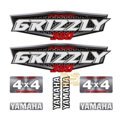Комплект наклеек X-ATV для квадроцикла Yamaha Grizzly 350 STI-YAM-350-216