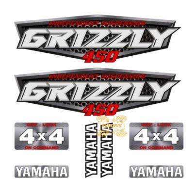 Комплект наклеек X-ATV для квадроцикла Yamaha Grizzly 450 STI-YAM-450-216