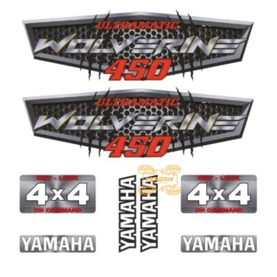 Комплект наклеек X-ATV для квадроцикла Yamaha Wolverine 450 STI-YAM-450-295