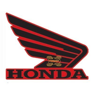 Наклейка на правое крыло для квадроцикла Honda длина 11см 700.0030
