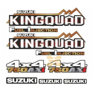 Комплект наклеек X-ATV для квадроцикла Suzuki KingQuad 750 STI-SUZ-750-298