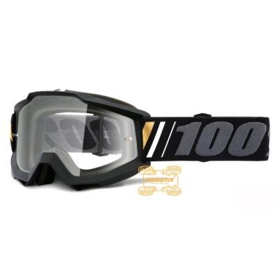Очки 100% ACCURI Off цвет черный, линза прозрачная с анти-фогом 50200-347-02