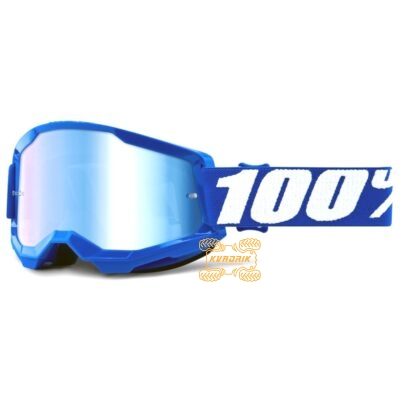 Очки 100% STRATA 2 Blue цвет синий, линза синяя 50421-250-02