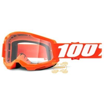 Очки 100% STRATA 2 Orange цвет оранжевый, линза прозрачная 50421-101-05