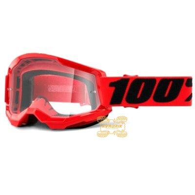Очки 100% STRATA 2 цвет красный, линза прозрачная 50421-101-03