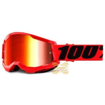 Очки 100% STRATA 2 Red цвет красный, линза красная 50421-251-03