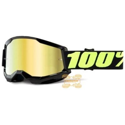 Очки 100% STRATA 2 Upsol цвет черный, линза желтая 50421-259-11