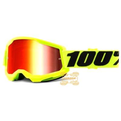 Очки 100% STRATA 2 Yellow цвет желтый, линза красная 50421-251-04
