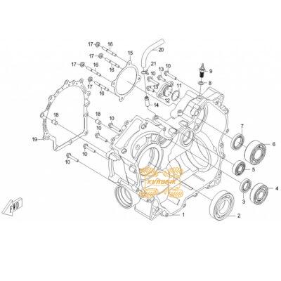 Оригинальный сальник картера для квадроцикла CFMoto X5 500 (22X38X7)   0180-012004, CF188-012004