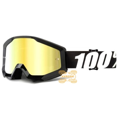 Очки 100% STRATA Outlaw цвет черный, линза желтая 50410-233-02