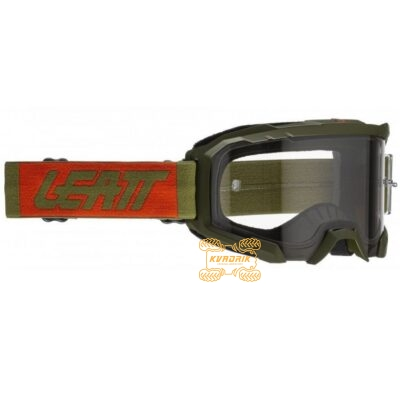 Очки LEATT Velocity 4.5 цвет зеленый, линза прозрачная 8020001120