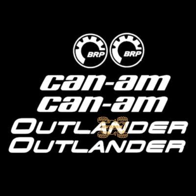 Комплект наклеек для квадроцикла Can Am Outlander цвет белый Stick-CAN
