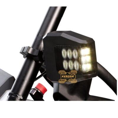 Боковые зеркала MOOSE со светодиодрыми фонарами подходят на каркас толщиной от 1,75 до 2 дюйма 0640-1381