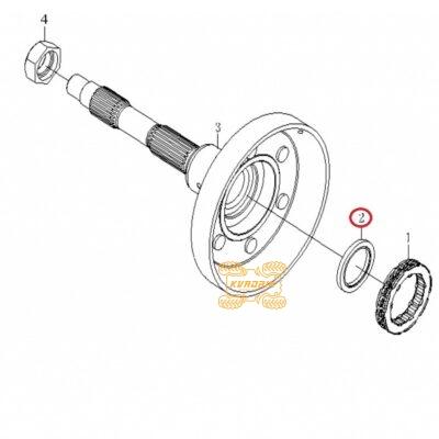 Оригинальный сальник корпуса центробежного сцепления для квадроцикла CFMoto 500 X5 (46x37,5x55) 0180-053005